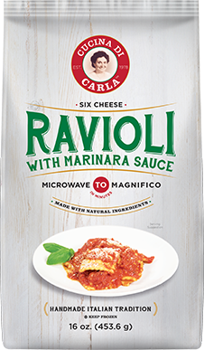 Six Cheese Ravioli with Marinara Sauce
